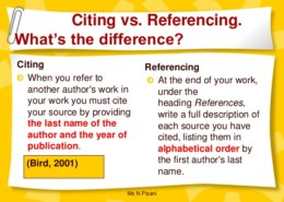 Citation Vs Reference – Definition, Comparison and What Are The Key Differences?