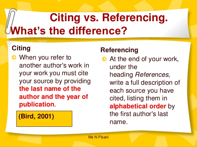 Citation Vs Reference Definition Comparison And What Are The